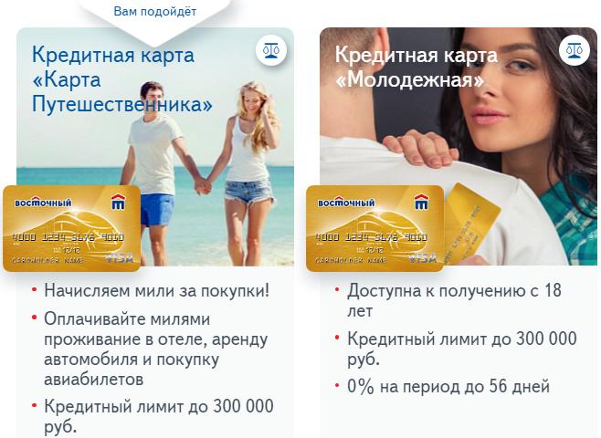 Кредитная карта «Карта Путешественника» и «Молодежная»