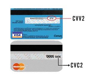 Что такое CVC2/CVV2 код на карте и где он находится